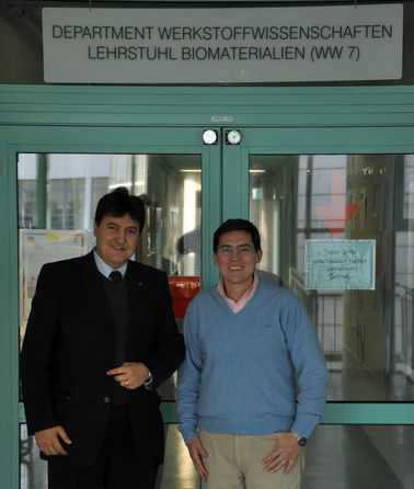 "Towards entry ""Dr. Alejandro Gorustovich (CONICET, Argentina) visits the Institute of Biomaterial"""