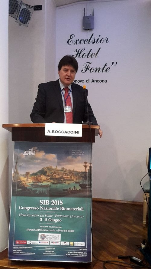"Towards entry ""Prof. Boccaccini delivered main lecture at Italian Society of Biomaterials Congress in Ancona"""