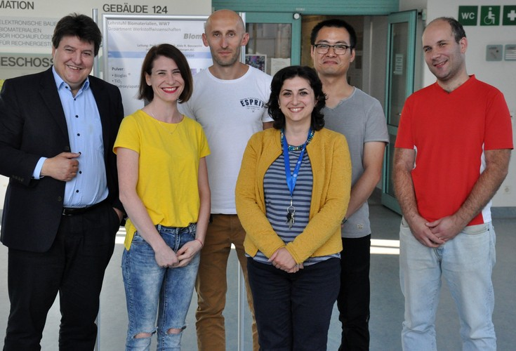 "Towards entry ""Researchers from Centre for Functional and Surface Functionalized Glass (FunGlass), Trencin, Slovakia, start training period in the Institute of Biomaterials"""