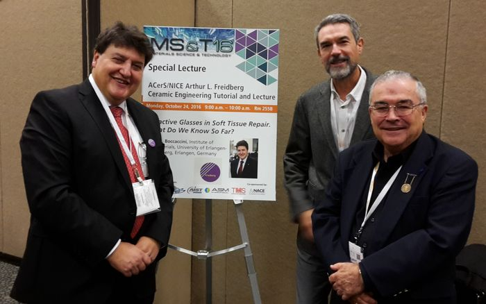 "Towards entry ""Prof. Boccaccini at MS&T 2016 in Salt Lake City, USA"""