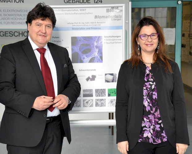 "Towards entry ""Prof. Chiara Vitale Brovarone visits the Institute of Biomaterials"""