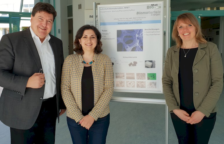 "Towards entry ""Dr. Julietta V. Rau, CNR-ISM, Italy, visits the Institute of Biomaterials"""