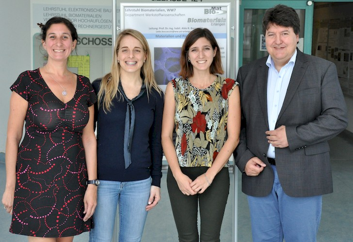 "Towards entry ""Researchers from Argentina visit the Institute of Biomaterials"""