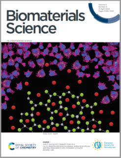 "Towards entry ""Our paper featured on the cover of ""Biomaterials Science"", Vol. 8, issue 8"""