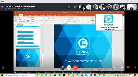 "Towards entry ""Scientific Board meeting of FunGlass Centre held remotely"""