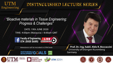 "Towards entry ""Prof. Boccaccini presents ""Distinguished Lecture"" at Faculty of Engineering, Universiti Teknologi Malaysia"""