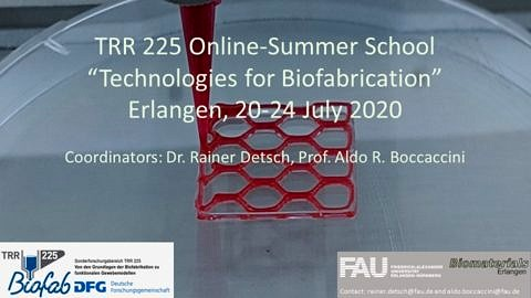 "Towards entry ""Successful Summer School  ""Technologies for Biofabrication"""""