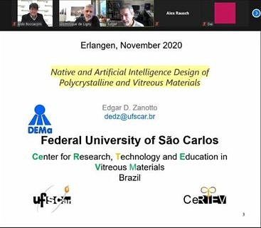 "Towards entry ""Prof. Edgar Zanotto (Univ. of Sao Carlos, Brazil) presents invited lecture in our Department"""